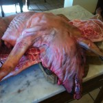 butchered pig