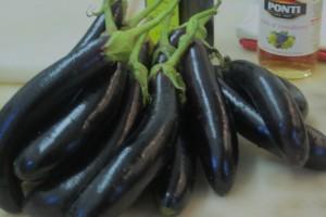 slender eggplants