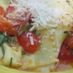 tomato basil w ravioli